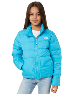 TURQUOISE BLUE KIDS GIRLS THE NORTH FACE JUMPERS + JACKETS - NF0A3NKU1F7BLU