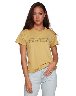 PLUM BERRY WOMENS CLOTHING RVCA TEES - RV-R281692-PBY