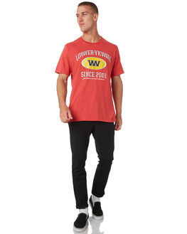 RED MENS CLOTHING LOWER TEES - LO19Q1MTS04RED