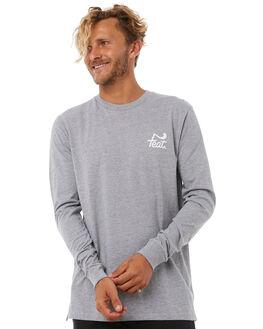 GREY WHITE MENS CLOTHING FEAT TEES - FTTLSLOG02GRYWH