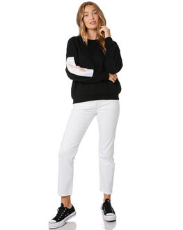 BLACK WHITE WOMENS CLOTHING HUFFER JUMPERS - WCR92S4702BLKWH