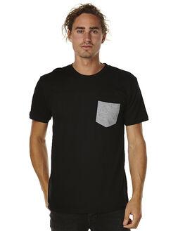 BLACK MENS CLOTHING AS COLOUR TEES - 5010BLK