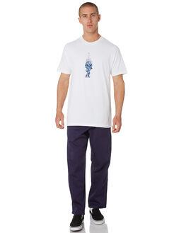 WHITE MENS CLOTHING PASS PORT TEES - PPBURNPOOLWHT