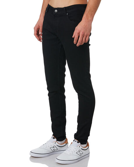 BLACK MENS CLOTHING CHEAP MONDAY JEANS - 0243968BLK