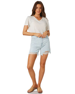 WASHED BLUE WOMENS CLOTHING ZULU AND ZEPHYR SHORTS - ZZ1885WSHBL