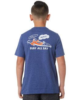 DEEP ROYAL BLUE KIDS BOYS HURLEY TEES - AO2238402