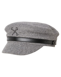 GREY MENS ACCESSORIES BILLY BONES CLUB HEADWEAR - BBCHAT005GRY