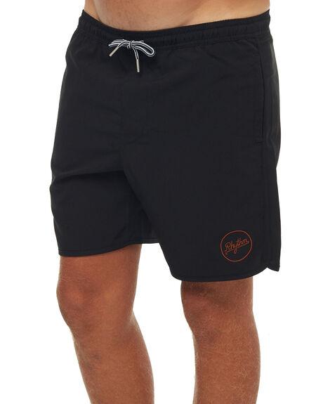BLACK MENS CLOTHING RHYTHM BOARDSHORTS - JAN18M-JM10BLK