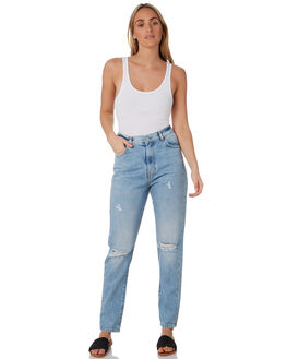 DESTINY BLUE RIPPED WOMENS CLOTHING DR DENIM JEANS - 1430113I36DSTB