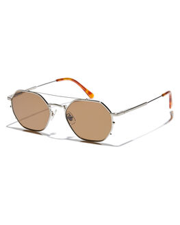 BRUSHED SILVER TORT MENS ACCESSORIES CRAP SUNGLASSES - JAZZS640AABSHTO