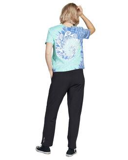 CERAMIC TIE DYE WOMENS CLOTHING QUIKSILVER TEES - EQWKT03030-BLW6