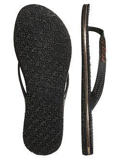 BLACK ROSE GOLD WOMENS FOOTWEAR RUSTY THONGS - FOL0125BK2