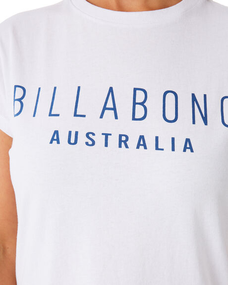 WHITE WOMENS CLOTHING BILLABONG TEES - 6581010WHT