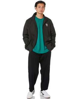 BLACK MENS CLOTHING STUSSY JUMPERS - ST006502BLK