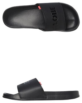 BLACK MENS FOOTWEAR GLOBE SLIDES - GBUNFAZED10001