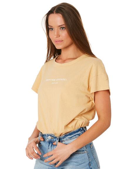 WHEAT WOMENS CLOTHING RHYTHM TEES - OCT19W-PT02WHE
