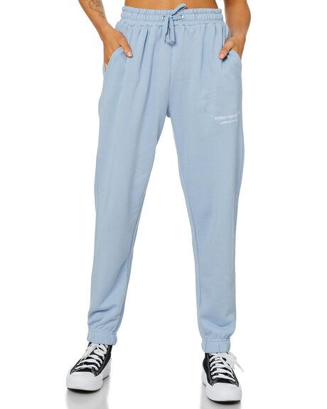 POWDER BLUE WOMENS CLOTHING STUSSY PANTS - ST116600PDWB