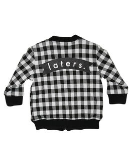BLACK WHITE KIDS BOYS TINY TRIBE JUMPERS + JACKETS - TTGW18-8002CBLKWH