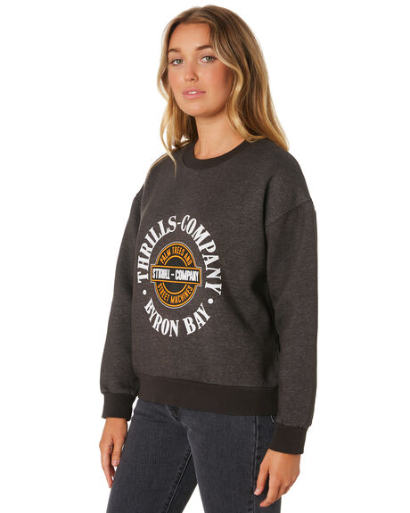MERCH BLACK WOMENS CLOTHING THRILLS JUMPERS - WTA9-209MBMBLK