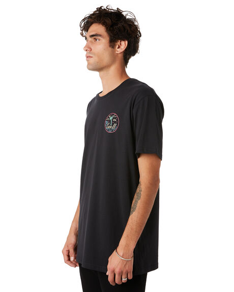 BLACK MENS CLOTHING SWELL TEES - S5201011BLACK