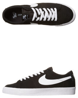 BLACK WHITE WOMENS FOOTWEAR NIKE SKATE SHOES - SS864347-019W