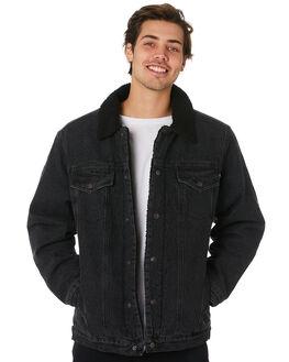 VINTAGE BLACK MENS CLOTHING RUSTY JACKETS - JKM0397VBL