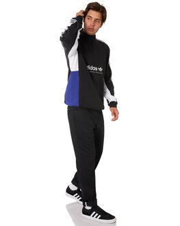 BLACK WHITE BLUE MENS CLOTHING ADIDAS JUMPERS - DU8381BWB
