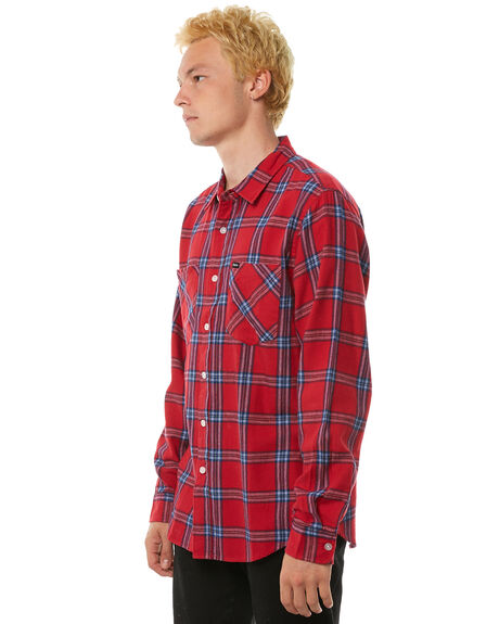 RED NAVY OUTLET MENS BRIXTON SHIRTS - 01086RDNAV
