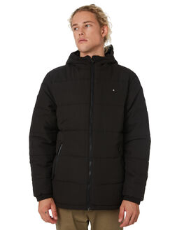 BLACK MENS CLOTHING HUFFER JACKETS - MPJA92S801BLK