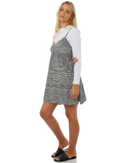 BLACK WHITE WOMENS CLOTHING VOLCOM DRESSES - B1311807BWH