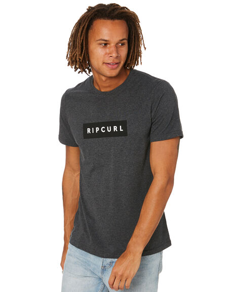 DARK GREY MARLE MENS CLOTHING RIP CURL TEES - CTERB98538