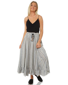 CHARCOAL STRIPE WOMENS CLOTHING TIGERLILY SKIRTS - T381283STR