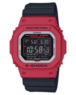 BLACK RED MENS ACCESSORIES G SHOCK WATCHES - GWM5610RB-4DBLKRD