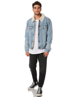 TRUCKERS DUST BLUE MENS CLOTHING ROLLAS JACKETS - 155994434