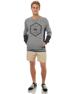 LIGHT GREY HEATHER MENS CLOTHING QUIKSILVER JUMPERS - EQYFT03719SGRH