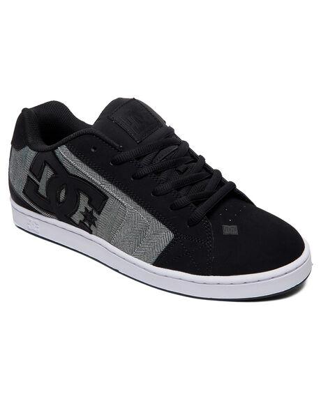 BLACK/H GREY MENS FOOTWEAR DC SHOES SNEAKERS - 302297-BHE