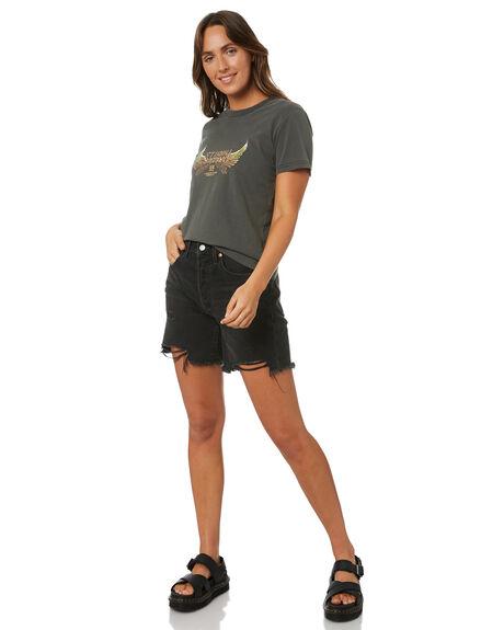 MERCH BLACK WOMENS CLOTHING THRILLS TEES - WTA21-112BMMBLK