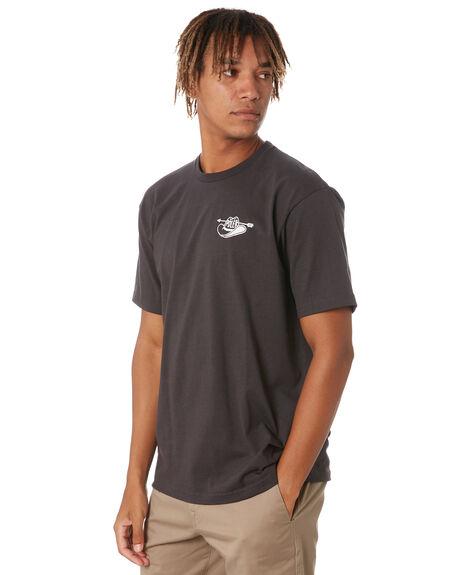 BLACK MENS CLOTHING POLER TEES - 213APM2012-BLK