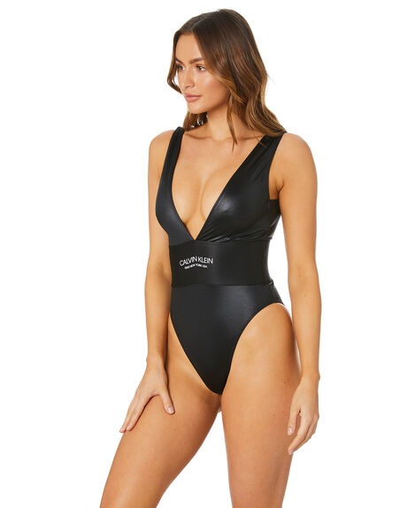 BLACK WOMENS SWIMWEAR CALVIN KLEIN ONE PIECES - KW00995-BEHBLK