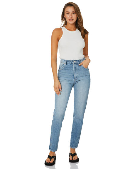 GARAGE BLUE WOMENS CLOTHING ROLLAS JEANS - 13950-4299