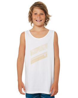 WHITE KIDS BOYS HURLEY TOPS - ABISIBSSPDWHT