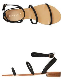 BLACK NUBUCK WOMENS FOOTWEAR BILLINI FASHION SANDALS - S611BLKNU