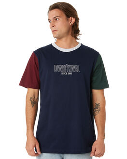 PYNE GRN NVY MAROON MENS CLOTHING LOWER TEES - LO19Q3MTS15PGNM