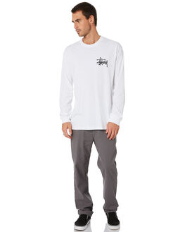 WHITE MENS CLOTHING STUSSY TEES - ST005010WHT