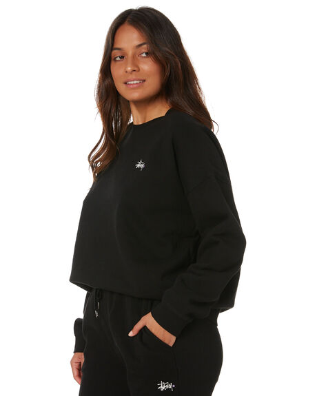BLACK WOMENS CLOTHING STUSSY JUMPERS - ST1M0152BLK