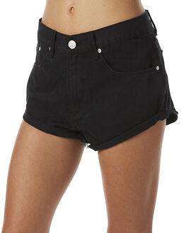 BLACK WOMENS CLOTHING RES DENIM SHORTS - RW0760BLK