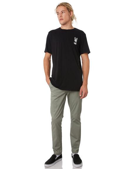 BLACK MENS CLOTHING SWELL TEES - S52011020BLACK