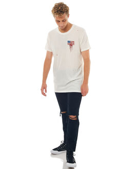 OFF WHITE MENS CLOTHING THE PEOPLE VS TEES - HS17012OWHT