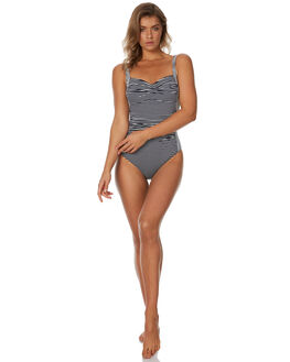 NAVY WHITE WOMENS SWIMWEAR SEA LEVEL BY NIPTUCK ONE PIECES - SL2976PSNVYWT