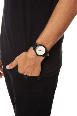 BLACK WHITE MENS ACCESSORIES SIMPLE WATCH CO WATCHES - SW05-25BLKWH